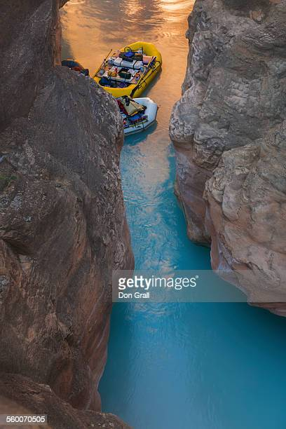 havasu canyon and creek confluence - havasu creek stock photos and pictures