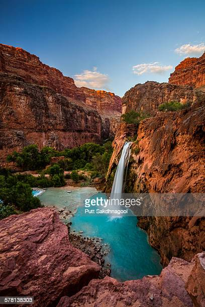 Havasu  falls during sunset