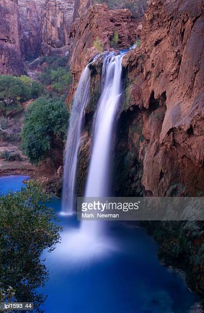 havasu falls in havasupai indian reservation, grand canyon national park, united states of america - havasu canyon stock photos and pictures
