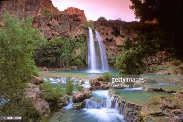 havasu falls - havasu creek stock photos and pictures