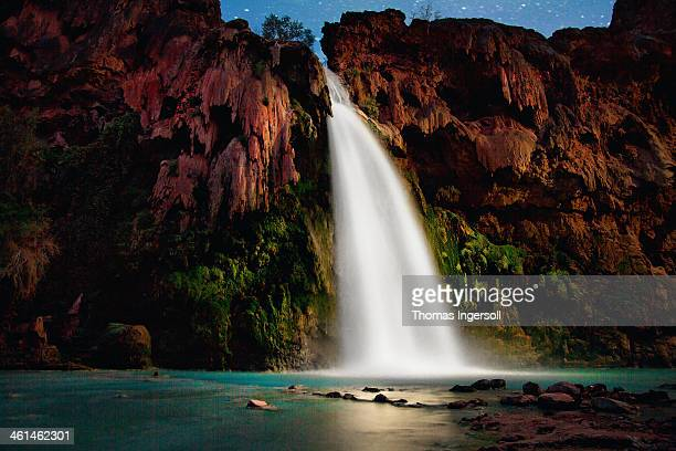 havasupai falls - havasu creek stock photos and pictures