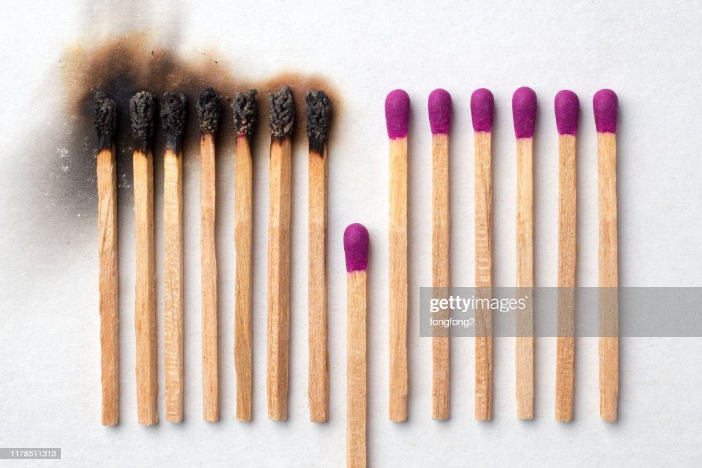 Haben Sie ein Spiel, um aufzugeben und zu vermeiden, dass andere verbrannt werden : Stock-Foto