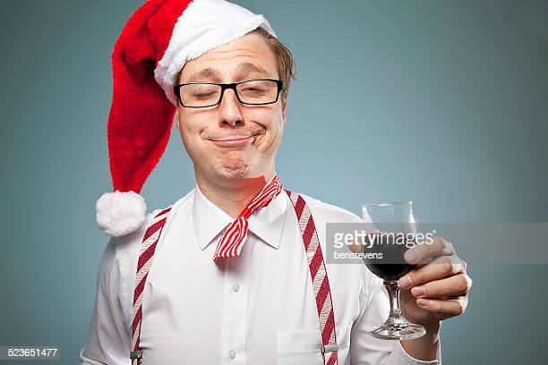 have a very merry nerdy christmas! - binge drinking stock photos and pictures