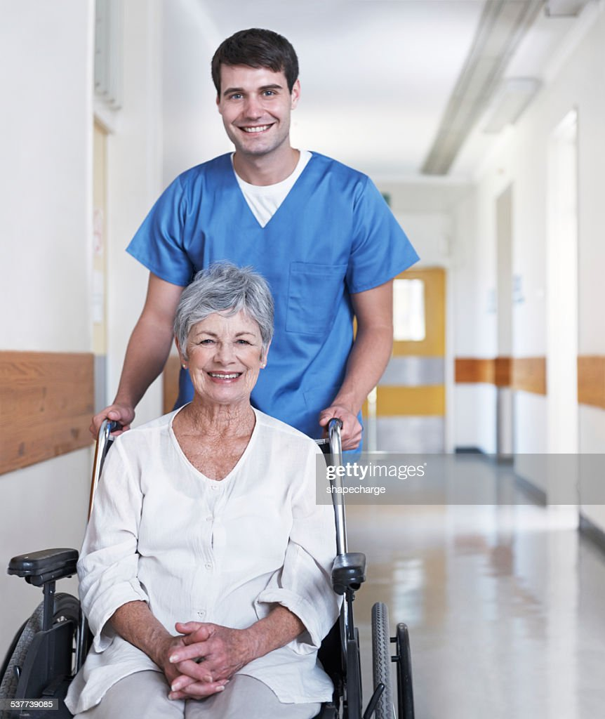 I have confidence in his caregiving : Stock Photo