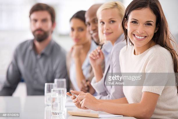 i have faith in our team - mexican business women stock photos and pictures