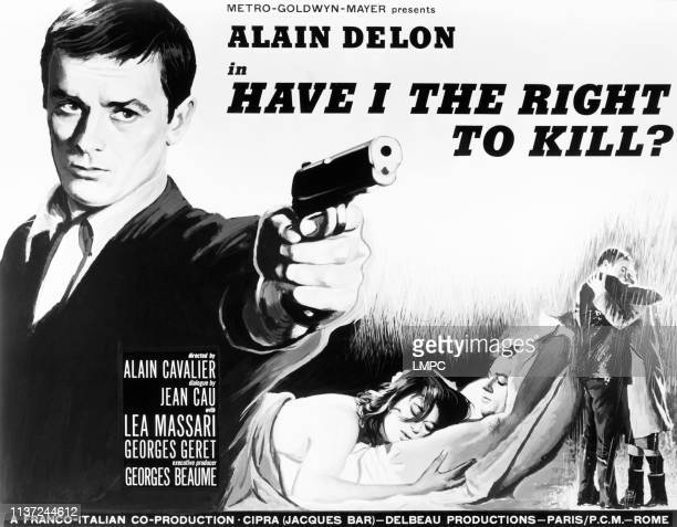 Have I The Right To Kill US lobbycard from left Alain Delon Lea Massari Alain Delon 1964
