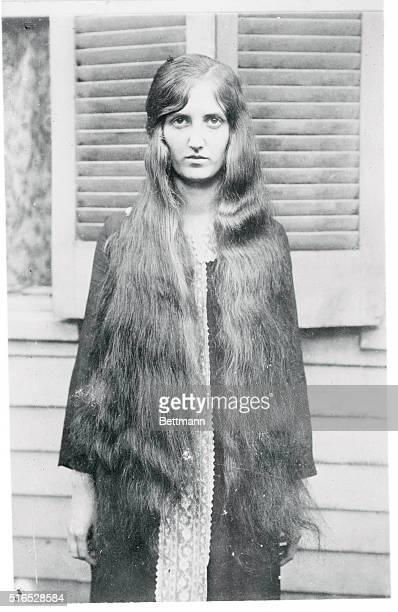 Have my hair bobbed I should say not declares Mary Neel Tichener Cincinnati school girl whose tresses are not only unbobbed but who has the longest...