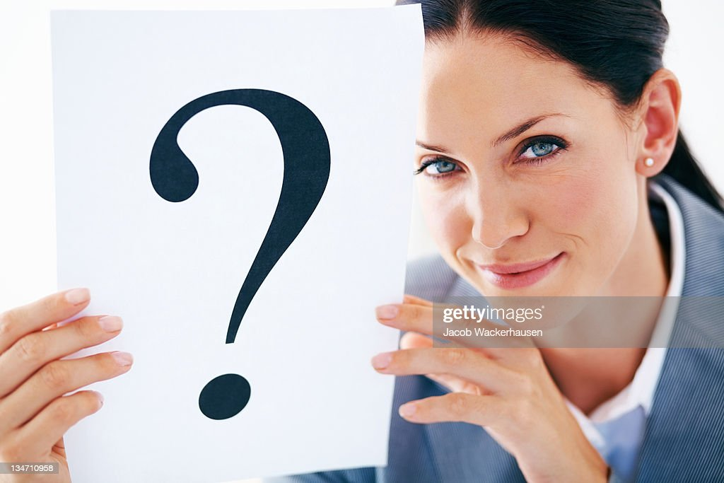 I have questions to ask : Stock Photo