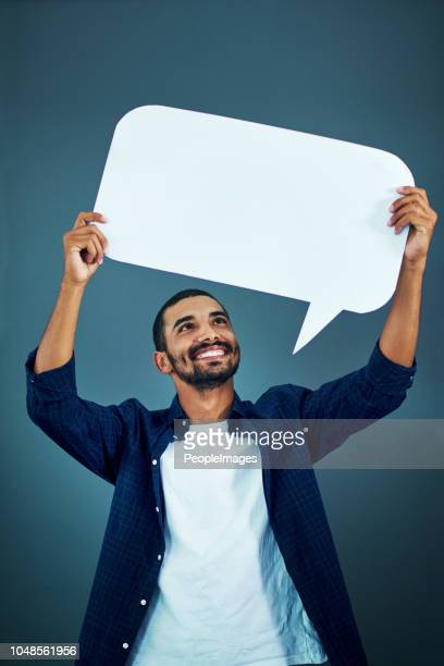i have something to say - placard stock pictures, royalty-free photos & images