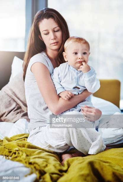 i have to take it one day at a time - postpartum depression stock photos and pictures