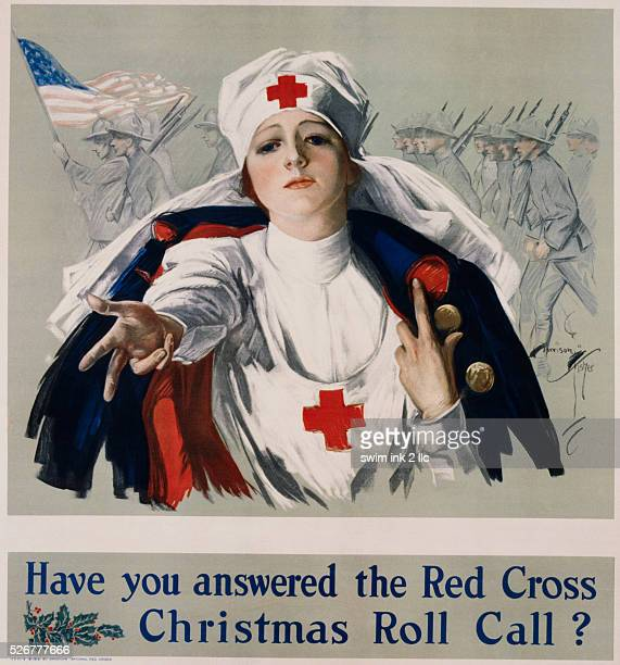 Have You Answered the Red Cross Christmas Roll Call? Poster by Harrison Fisher