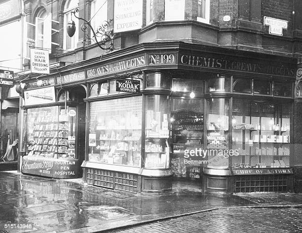 Have you ever visited London and when down at the lower part of Strand remarked at the old fashioned appearance outside and inside of the drug store...