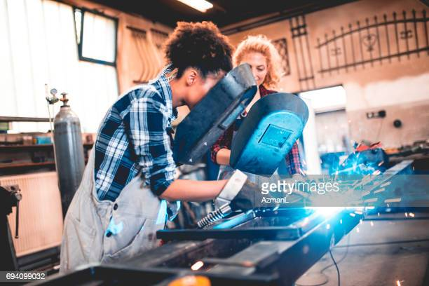have you ever weld before? - black glove stock pictures, royalty-free photos & images