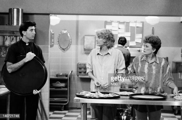 GIRLS Have Yourself a Very Little Christmas Episode 12 Pictured Matt McCoy as Father Avery Bea Arthur as Dorothy Petrillo Zbornak Rue McClanahan as...