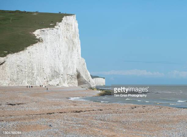 haven brow, seven sisters cliffs, east sussex, uk - national landmark stock pictures, royalty-free photos & images