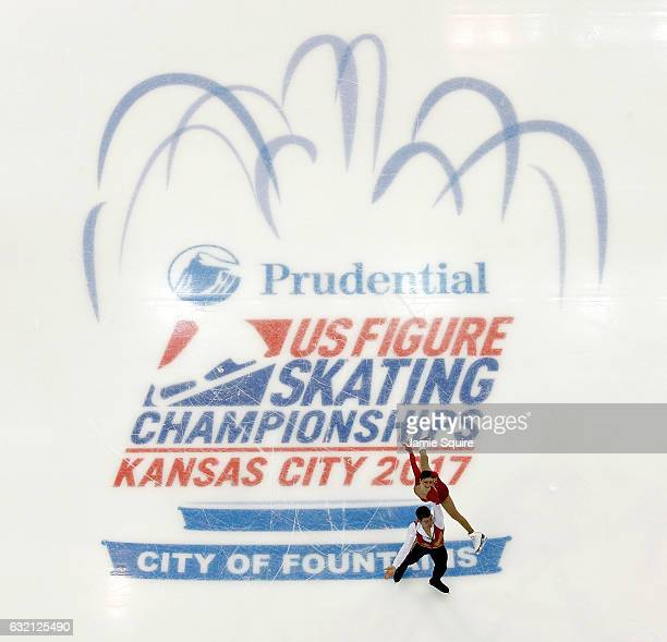 Haven Denney and Brandon Frazier compete in the Championship Pairs Short Program during 2017 US Figure Skating Championships at Sprint Center on...