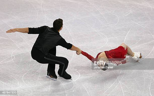 Haven Denney and Brandon Frazier compete in the Pairs Short Program during the 2014 Hilton HHonors Skate America competition at the Sears Centre...