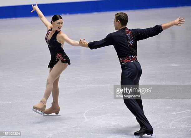 Haven Denney and Brandon Frazier of the United States compete in the pair short program during day one of ISU Grand Prix of Figure Skating 2013/2014...