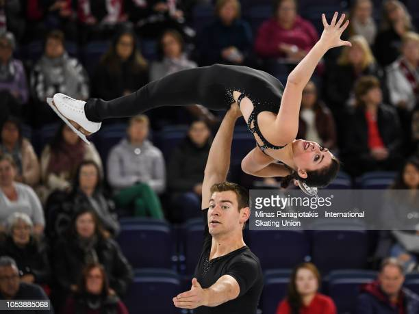 Haven Denney and Brandon Frazier of the United States compete on day 1 during the ISU Grand Prix of Figure Skating Skate Canada International at...