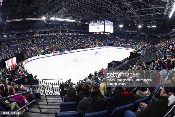 Haven Denney and Brandon Frazier of the United States compete on day two during the ISU Grand Prix of Figure Skating Skate Canada International at...