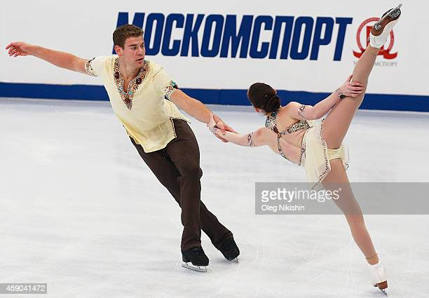 Haven Denney and Brandon Frazier of the United States skate in the Pairs Free Skating during ISU Rostelecom Cup of Figure Skating 2014 on November 15...