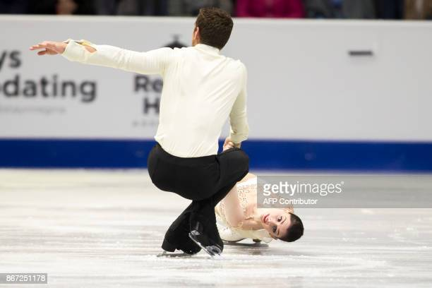 Haven Denney and Brandon Frazier of the United States skate their short program at the 2017 Skate Canada International ISU Grand Prix event in Regina...