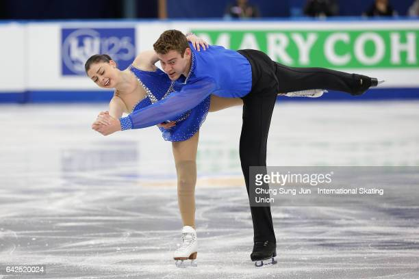 Haven Denney and Brandon Frazier of United States competes in the Pairs free program during ISU Four Continents Figure Skating Championships...