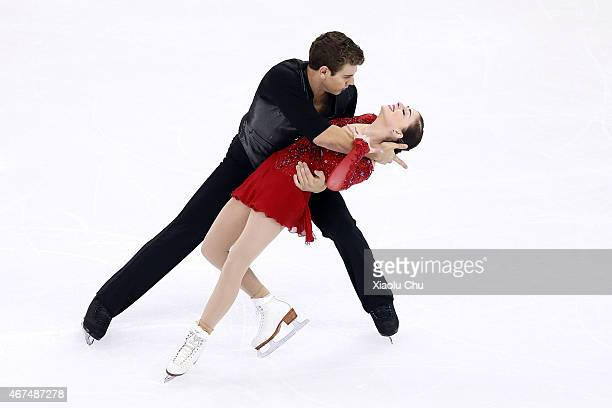 Haven Denney and Brandon Frazier of United States perform during the Pairs Short Program on day one of the 2015 ISU World Figure Skating...