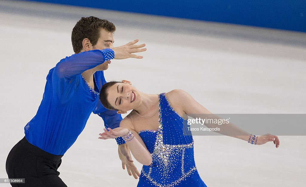 Haven Denney and Brandon Frazier of USA compete in the pairs free skating at 2016 Progressive Skate America at Sears Centre Arena on October 22, 2016 in Chicago, Illinois.