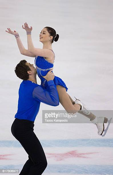 Haven Denney and Brandon Frazier of USA compete in the pairs free skating at 2016 Progressive Skate America at Sears Centre Arena on October 22 2016...