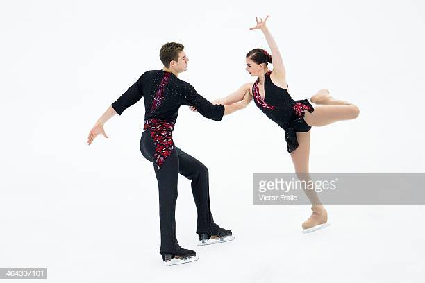 Haven Denney and Brandon Frazier of USA compete in the Pairs Short Program event during the Four Continents Figure Skating Championships on January...