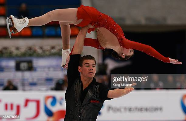 Haven Denney and Brandon Frazier of USA skate in the Pairs Free Skating programm during ISU Rostelecom Cup of Figure Skating 2014 on November 14 2014...