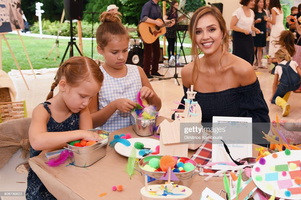Haven Garner Warren, Honor Marie Warren, and Founder of The Honest Company and Honest Beauty Jessica Alba attend as the Honest Company and The GREAT. celebrate The GREAT Adventure on August 5, 2017 in East Hampton, New York.