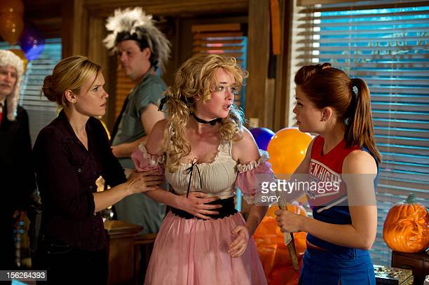 Haven 'Real Estate' Episode 306 Pictured Emily Rose as Audrey Parker Allie MacDonald as Tina Bree Williamson as Claire Callahan