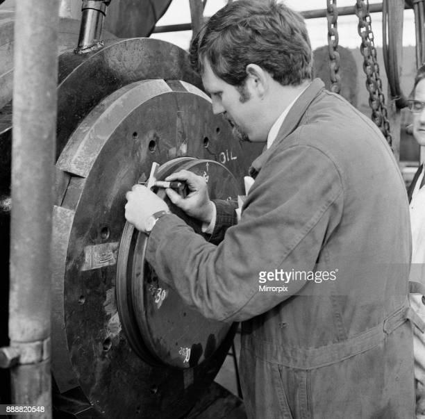 Haverton Hill shipyard. Stockton-on-Tees, County Durham, England, 1971.
