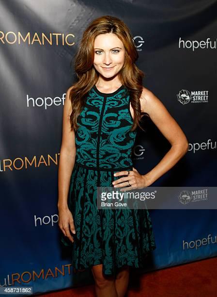 Haviland Stillwell attends Matt Zarley's Original Musical Short Film hopefulROMANTIC at American Film Institute on November 9 2014 in Los Angeles...