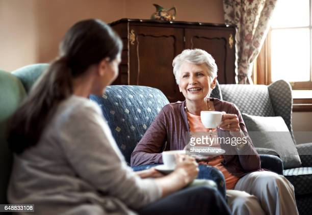 Having a chat over tea