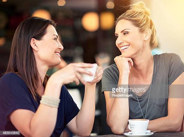 , das'heart-to-heart über Kaffee