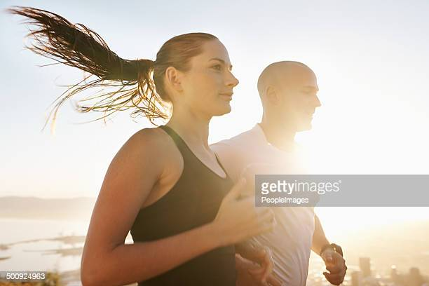 Having a partner makes the run much easier