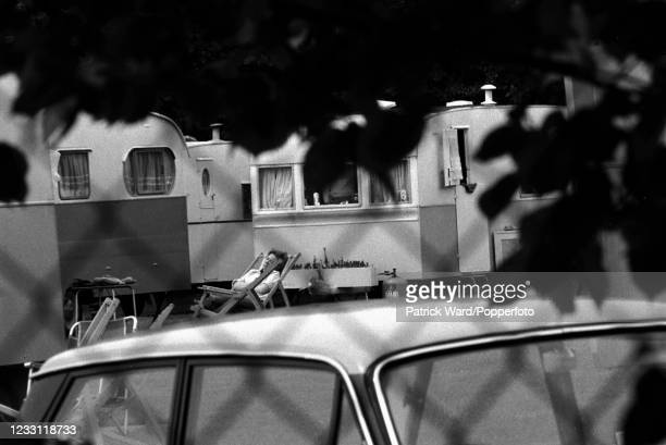 Having a rest at a caravan park near Woburn Abbey and Gardens in Bedfordshire, circa July 1969. From a series of images to illustrate the many...