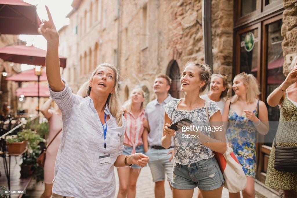 Having a Tour Through the City Streets : Stock Photo