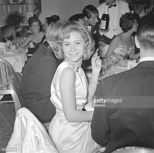 """""""Having a wonderful time,"""" says the smile on Tina Onassis. She added socialite glamour to the Leap Year Supper Dance party at the Drake Hotel. She is..."""