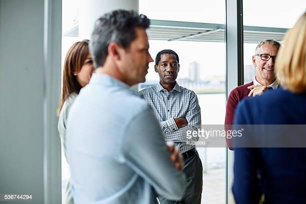 Having an impromptu meeting