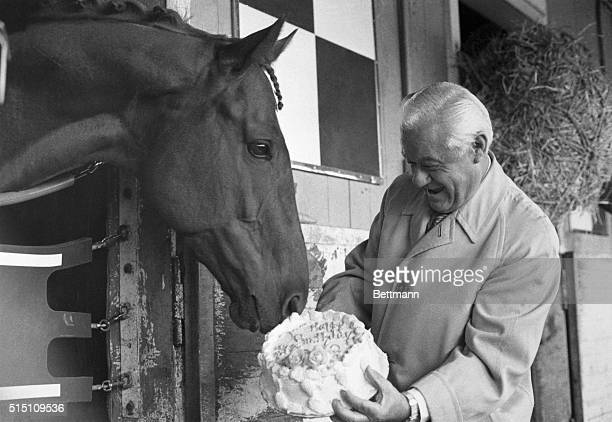 Having chalked up an outstanding record as 1972 Horse of the Year and giving promise of better things to come Secretariat receives appropriate...