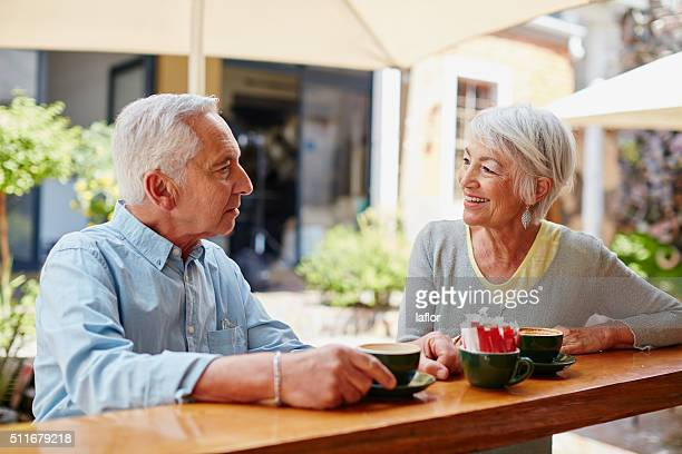 Mit Kaffee nach dem treffen in einem online-dating-Website