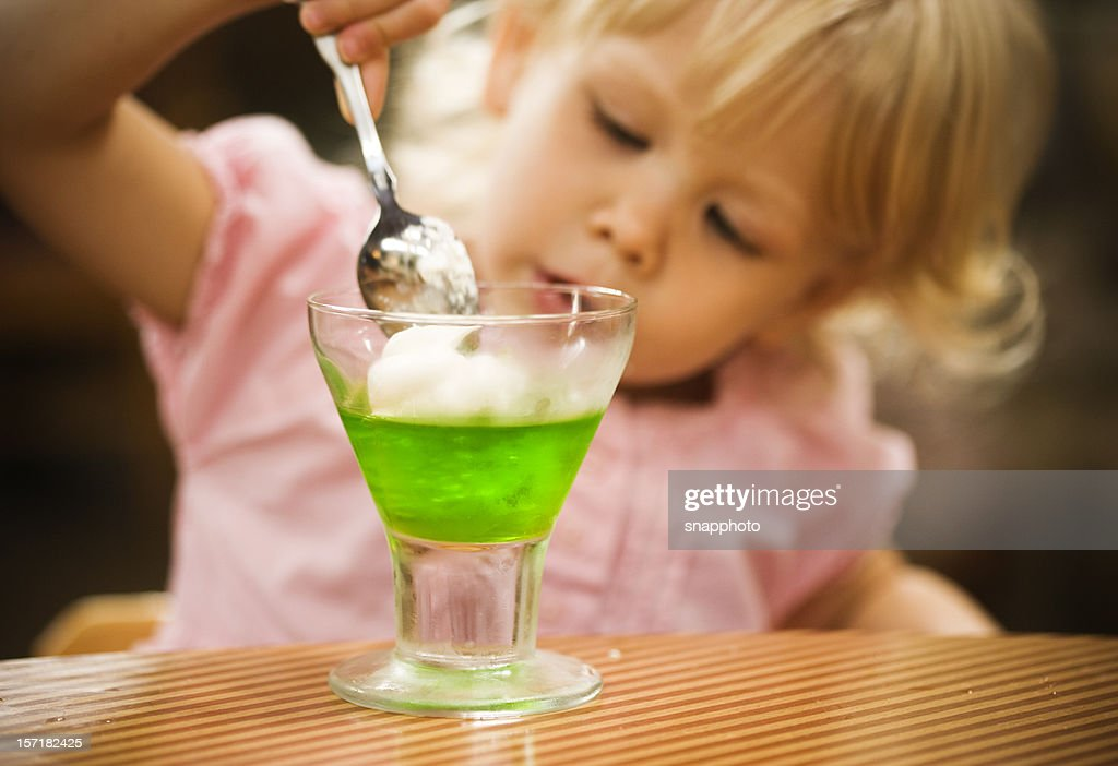Having Dessert : Stock Photo