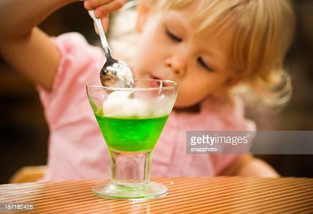 having dessert - gelatin dessert stock photos and pictures