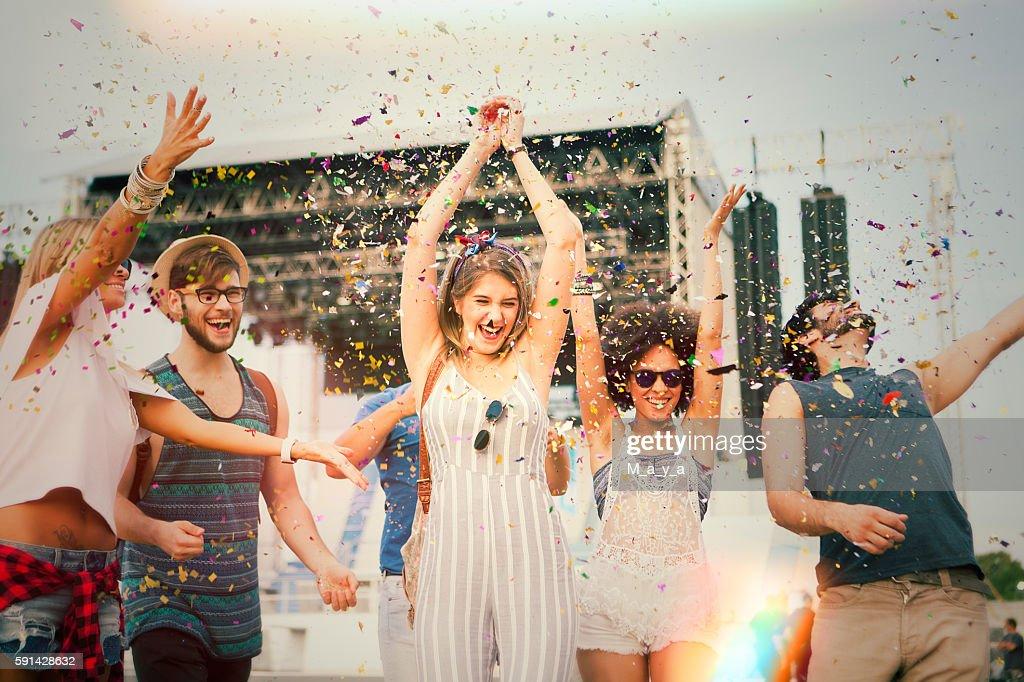 Having fun at concert. : Stock Photo