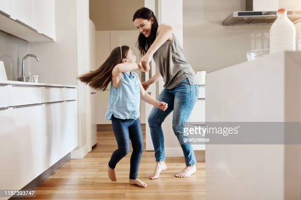 having fun is the best way to bond - at home imagens e fotografias de stock