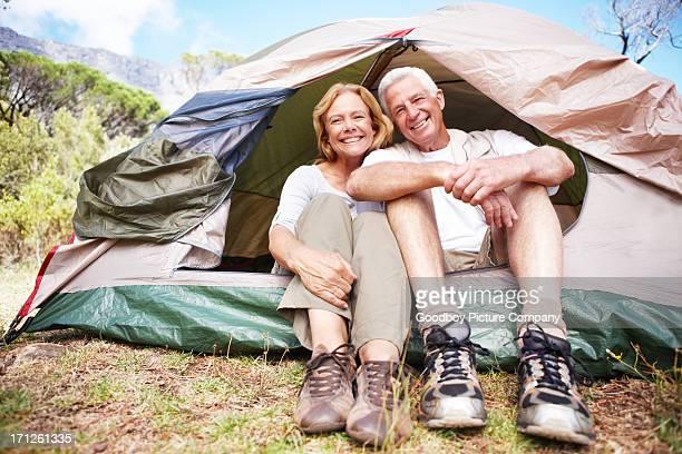 Having fun on a outdoor retirement getaway
